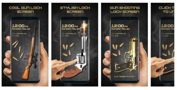 Gun Shooting Lock Screen app