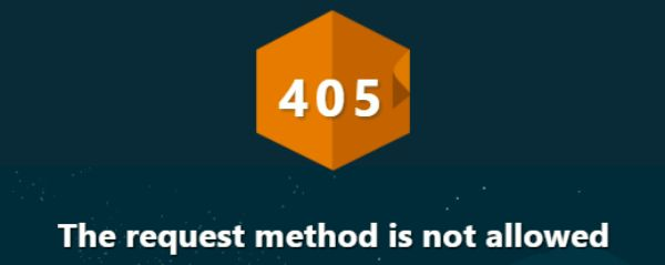 How to fix 405 method not allowed